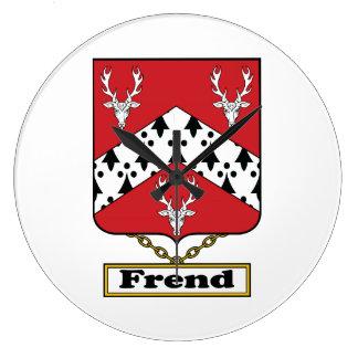 Escudo de la familia de Frend Reloj De Pared