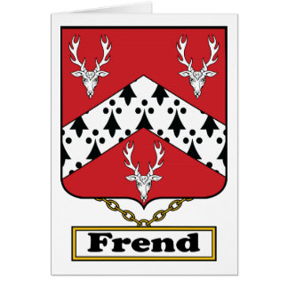 Escudo de la familia de Frend Tarjetón
