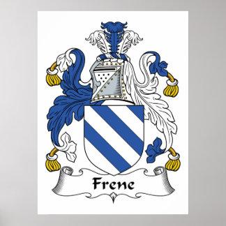 Escudo de la familia de Frene Posters