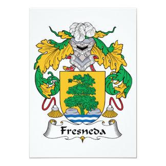 """Escudo de la familia de Fresneda Invitación 5"""" X 7"""""""