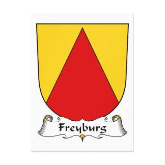 Escudo de la familia de Freyburg Lona Envuelta Para Galerias