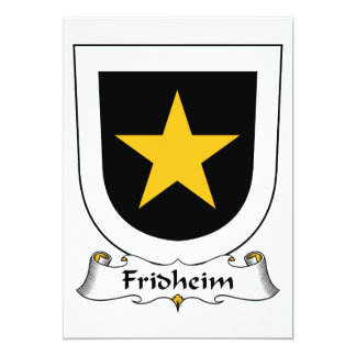 Escudo de la familia de Fridheim Invitación 12,7 X 17,8 Cm