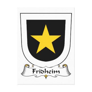 Escudo de la familia de Fridheim Impresiones En Lona