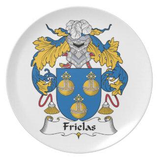 Escudo de la familia de Frielas Platos