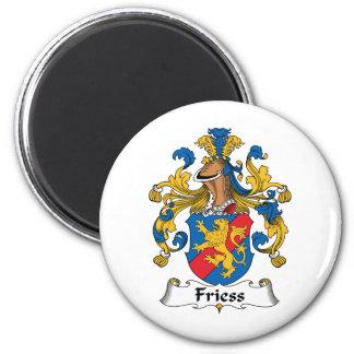 Escudo de la familia de Friess Imán Redondo 5 Cm