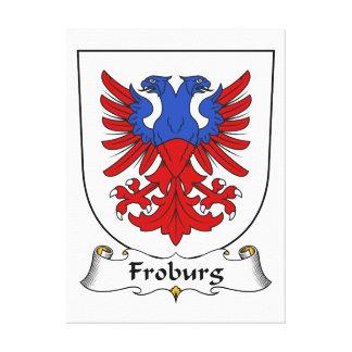 Escudo de la familia de Froburg Lona Envuelta Para Galerías
