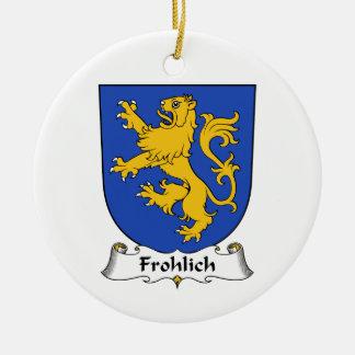 Escudo de la familia de Frohlich Adorno Redondo De Cerámica