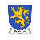 Escudo de la familia de Frohlich Invitación Personalizada