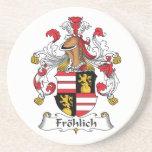 Escudo de la familia de Frolich Posavasos Personalizados
