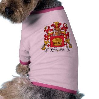 Escudo de la familia de Froment Ropa Perro