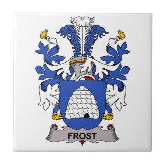 Escudo de la familia de Frost Azulejo Cuadrado Pequeño