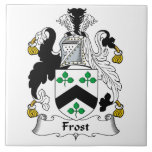 Escudo de la familia de Frost Azulejo Ceramica