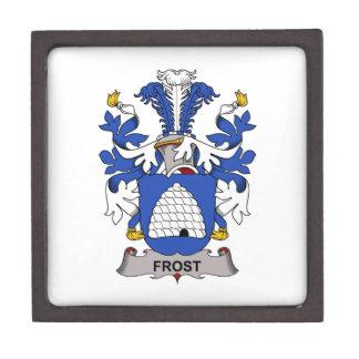Escudo de la familia de Frost Cajas De Recuerdo De Calidad