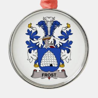 Escudo de la familia de Frost Adorno Redondo Plateado