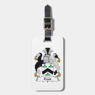 Escudo de la familia de Frost Etiquetas Para Maletas