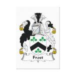 Escudo de la familia de Frost Impresión De Lienzo