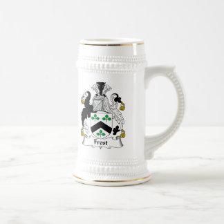 Escudo de la familia de Frost Jarra De Cerveza