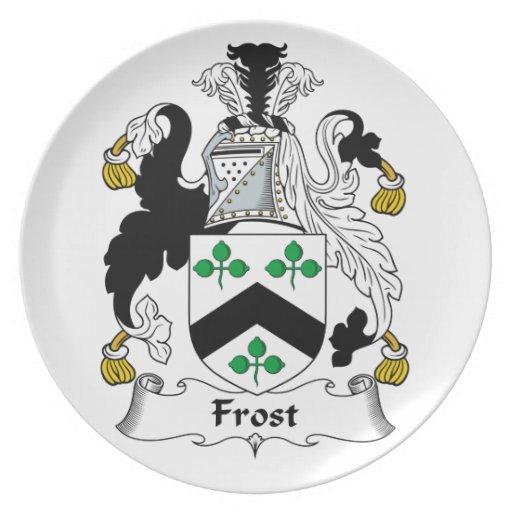 Escudo de la familia de Frost Platos De Comidas