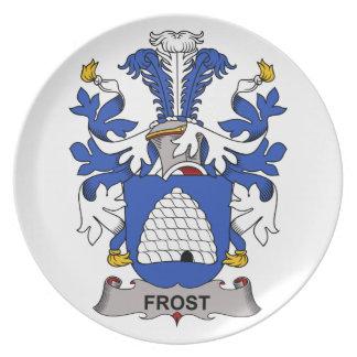 Escudo de la familia de Frost Platos Para Fiestas