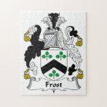 Escudo de la familia de Frost Rompecabezas Con Fotos