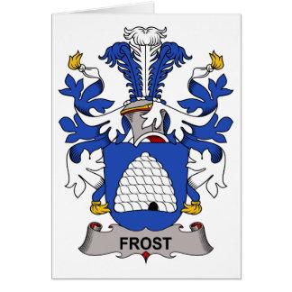Escudo de la familia de Frost Tarjeta De Felicitación