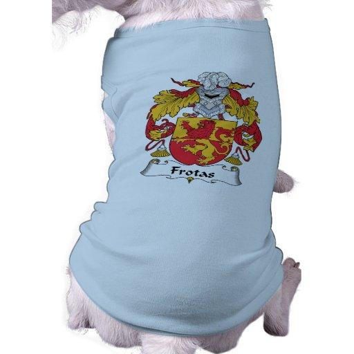 Escudo de la familia de Frotas Playera Sin Mangas Para Perro