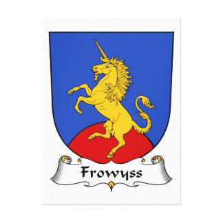 Escudo de la familia de Frowyss Impresión En Lona