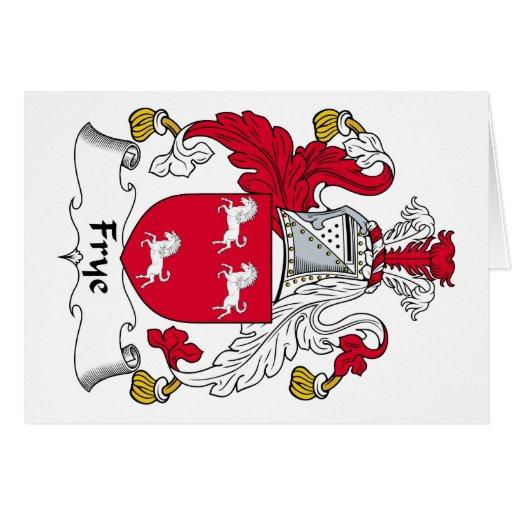 Escudo de la familia de Frye Tarjeta De Felicitación