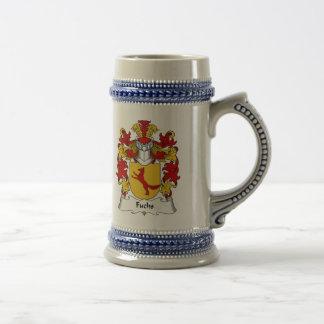 Escudo de la familia de Fuchs Jarra De Cerveza