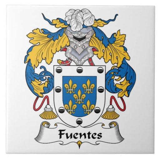 Escudo de la familia de Fuentes Azulejo Cuadrado Grande