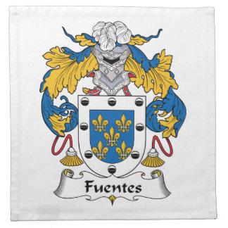 Escudo de la familia de Fuentes Servilleta De Papel