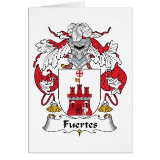 Escudo de la familia de Fuertes Tarjeta De Felicitación