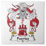 Escudo de la familia de Fuertes Teja Cerámica