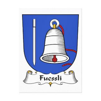 Escudo de la familia de Fuessli Impresión En Lona Estirada