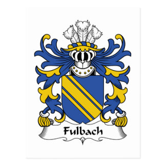 Escudo de la familia de Fulbach Postal