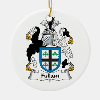Escudo de la familia de Fullam Adorno Redondo De Cerámica