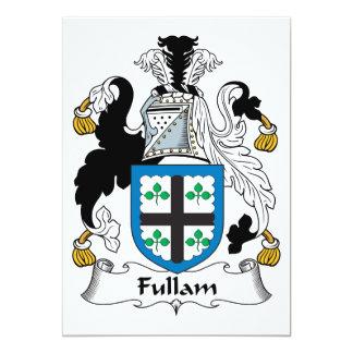 """Escudo de la familia de Fullam Invitación 5"""" X 7"""""""