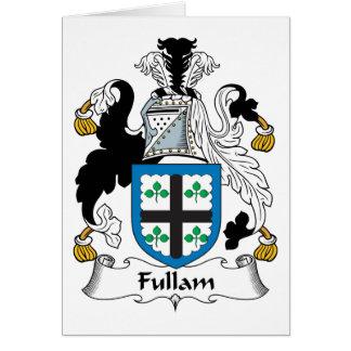 Escudo de la familia de Fullam Tarjeta De Felicitación