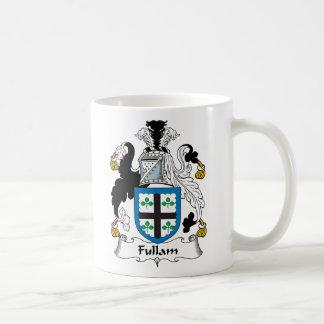 Escudo de la familia de Fullam Taza Básica Blanca