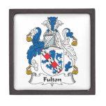 Escudo de la familia de Fulton Cajas De Regalo De Calidad