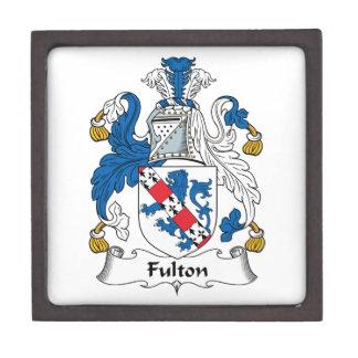 Escudo de la familia de Fulton Caja De Joyas De Calidad