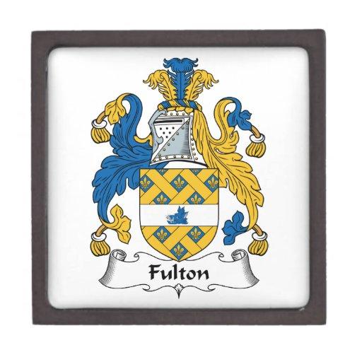 Escudo de la familia de Fulton Cajas De Recuerdo De Calidad