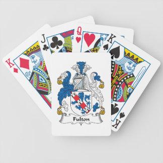 Escudo de la familia de Fulton Cartas De Juego