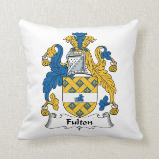 Escudo de la familia de Fulton Cojín