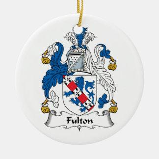 Escudo de la familia de Fulton Adorno Redondo De Cerámica