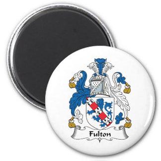 Escudo de la familia de Fulton Imán Redondo 5 Cm