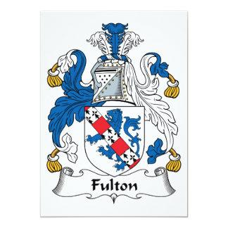 """Escudo de la familia de Fulton Invitación 5"""" X 7"""""""