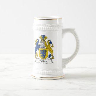 Escudo de la familia de Fulton Jarra De Cerveza