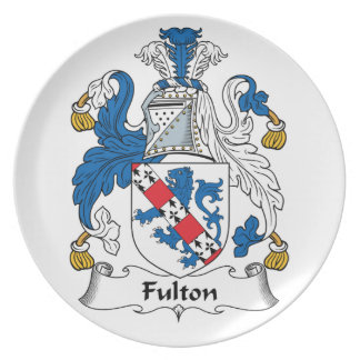 Escudo de la familia de Fulton Platos De Comidas