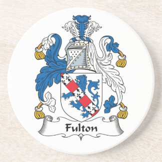Escudo de la familia de Fulton Posavasos Cerveza